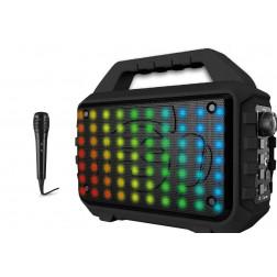 iDance Blaster BL400 Αυτοενισχυόμενο Φορητό Ηχείο Bluetooth Καραόκε με επαναφορτιζόμενη μπαταρία, microSD, AUX IN, USB Powerbank και φωτισμό Led RGB