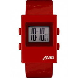 FLUD Watches The Digi Watch Pop, retro, funky watch red