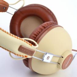 iDance HIPSTER 701 lifestyle retro ακουστικά σε καφέ χρώμα