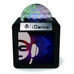 iDance CUBE NANO CN-1 BLACK Φορητό αυτοενισχυόμενο ηχείο με Bluetooth Mp3 Player, LED φωτισμού και επαναφορτιζόμενη μπαταρία
