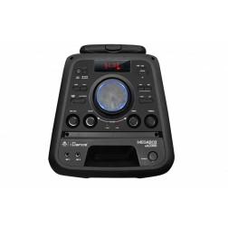 iDance Megabox MB-2000 Ηχοσύστημα MP3 USB FM Bluetooth, τηλεχειριστήριο, 1 Ασύρμ. Μικρόφ με επαναφορτιζόμενη μπαταρία και λειτουργεία ρεύματος και τρόλεϊ