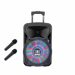 iDance Groove 420 Ενεργό φορητό Ηχείο με μπαταρία MP3 USB Bluetooth 2 ασύρματα μικρόφωνα και ρόδες τρόλεϊ