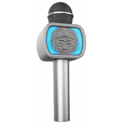 iDance Party Mic PM-20 Silver με bluetooth και ενσωματωμένο ηχείο karaoke και φωτορυθμικά