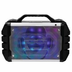 iDance Blaster 200 Lifestyle Φορητό ηχείο με ραδιόφωνο και με επαναφορτιζόμενη μπαταρία φωτορυθμικά led, μικροφώνο,τηλεχεριστήριο και λειτουργία εγγραφής rec