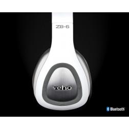 Veho ZB6 On Ear Ασύρματα Αναδιπλούμενα Ακουστικά Bluetooth 4.1 Handsfree με μικρόφωνο για τηλεφωνικές κλήσεις - White