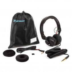 SENNHEISER HD-25-Plus Ακουστικά με επιπλέον σπιράλ καλώδιο σφουγγαράκια και θήκη μεταφοράς