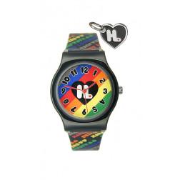 Harajuku Lovers Black Rainbow watch