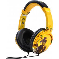 iDance Ibiza 105 ακουστικά σε κίτρινο χρώμα
