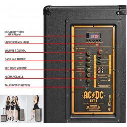 iDance ACDC TNT-1 αυτοενισχυόμενο Ηχείο MP3 USB Bluetooth μπαταρίας ρεύματος με Vintage retro σχεδιασμό