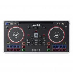 Gemini MIX2GO αυτοενισχυόμενο ηχείο μπαταρίας ρεύματος Bluetooth και DJ controller με φωτορυθμικά