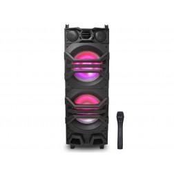 iDance Mixbox 2000 ολοκληρωμένο ηχοσύστημα 400W με Bluetooth USB, SD και Disco φωτορυθμικά καραόκε με ασύρματο μικρόφωνο