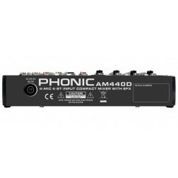 Phonic AM 440D αναλογική κονσόλα 12 εισόδων (4 mono mic/line και 4 line stereo)