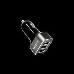 Veho Triple USB Car Charger 5V 5.1A Φορτιστής Αυτοκινήτου με 3 υποδοχές