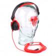 Κόκκινο ανταλλατκικό Spiral καλώδιο για Sennheiser HD25 3,5m ακουστικά